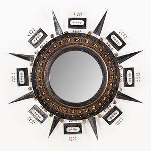 Ceramic Sunburst Mirror by Georges Pelletier, 1970s