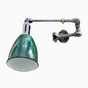 Grüne Emaille Fabriklampe von Dugdills, 1930er