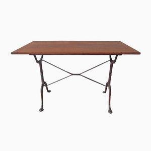 Table Bistrot Vintage avec Socle en Fonte, 1930s