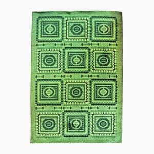 Tapis Vintage Vert en Mosaïque, 1970s
