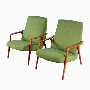 Swedish Easy Chairs from Dux, 1950s, Set of 2