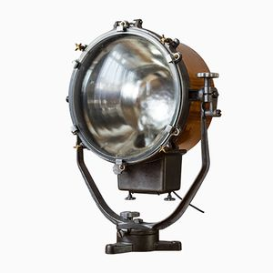 Antique Victorian Ship's Search Light from Ediswan