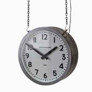 Große Beleuchtete Vintage Uhr von Smiths