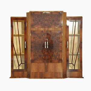 Art Deco Walnut Bar Cabinet