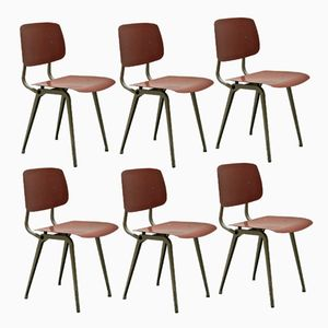 Revolt Chairs by Friso Kramer for Ahrend De Cirkel, 1954, Set of 6