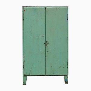 Vintage Industrial Green Cabinet, 1960s