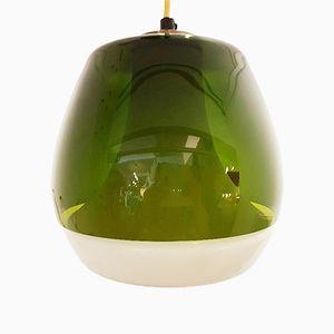 Danish Green Glass Pendant Light, 1960s