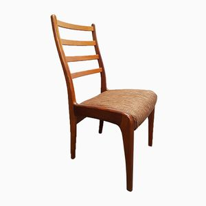 Teak Ladderback Dining Chairs from G-Plan, 1970s, Set of 4