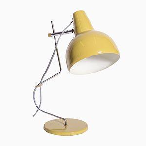 Gelbgrüne Vintage Metall Tischlampe von Lidokov