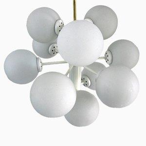 Plafonnier avec Globes en Verre Opalin de Rupert Nikoll, 1960s