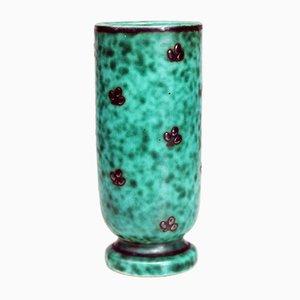 Grüne Vintage Vase von Gustavsberg