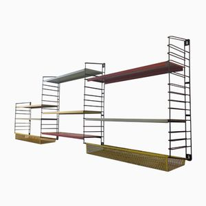 Large Shelving Set with 2 Basket Shelves from Tomado, 1950s