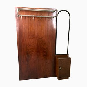 Italian Art Deco Mahogany Coat Rack, 1940s