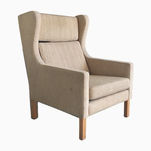 Mid-Century Danish Wing Backed Armchair