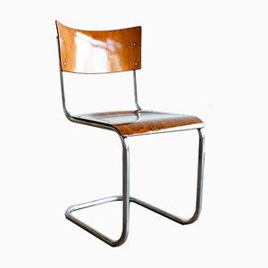 Verchromte Metall S43 Stühle von Mart Stam für Thonet, 4er Set, 1930er