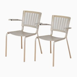 Züka Aluminum Chairs from Embru, 1948, Set of 2