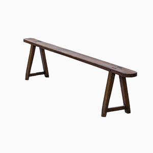 Vintage French Rustic Farm Bench