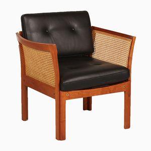 Danish Plexus Easy Chair in Cherrywood by Illum Wikkelsø for C. F. Christensen, 1960s