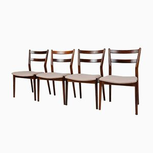 Rosewood Dining Chairs by Helge Sibast for Sibast Mobler, Set of 4