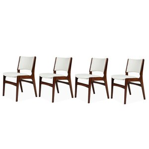 Solid Rosewood Chairs by Erik Buch, 1960s, Set of 4