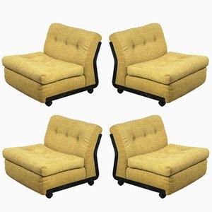 Vintage Amanta Chairs by Mario Bellini for B&B Italia, Set of 4