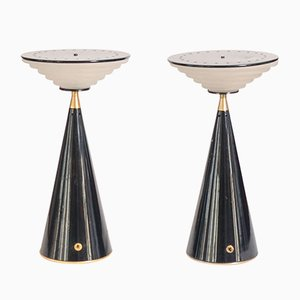 Lampes de Bureau Ziggurat par Shigeaki Asahara pour Stilnovo, Set de 2