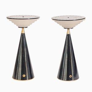 Ziggurat Tischlampen von Shigeaki Asahara für Stilnovo, 2er Set