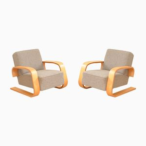 Tank Chairs by Alvar Aalto for Wohnbedarf, 1940s, Set of 2