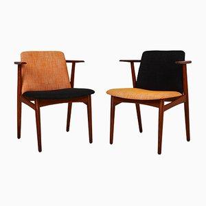 Danish Teak Armchairs by Hans Olsen for N.A. Jorgensen (Bramin), 1960s, Set of 2