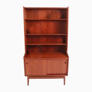 Danish Modern Wall Unit in Teak with Shelves and Cabinet from Bornholms, 1969