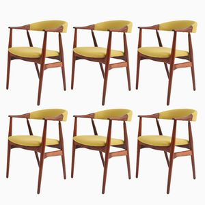 Danish Modern Dining Chairs in Rosewood, 1960s, Set of 6