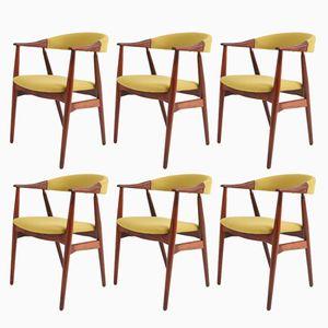Danish Modern Esszimmerstühle aus Palisander, 1960er, 6er Set