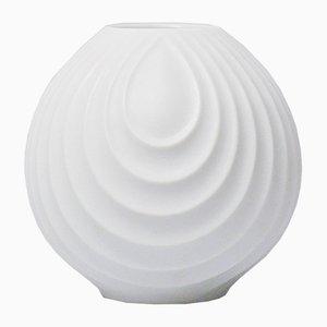 White Bisque Op Art Relief Vase by Werner Uhl for Scherzer