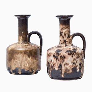 Fat Lava Vasen mit Griffen von Ruscha Keramik, 2er Set