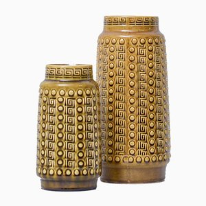 West German Pottery Vases from Alfred Klein, Set of 2