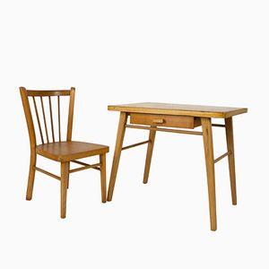 Bureau et Chaise pour Enfant de Baumann, 1960s