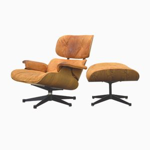 Rosewood Lounge Chair & Ottoman by Charles & Ray Eames for Herman Miller, 1970s