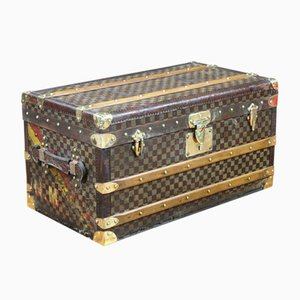 Damier Canvas Trunk from Moynat, 1920s