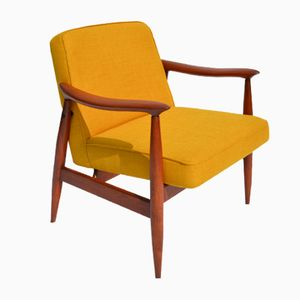 Polnischer Vintage Sessel in Gelb, 1960er