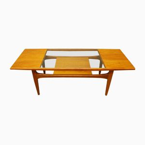 Mid-Century Teak and Glass Long Coffee Table from G-Plan