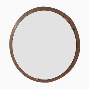Vintage Teak-Framed Mirror