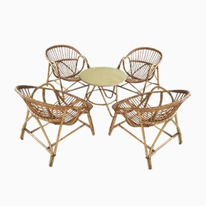 Vintage Rattan Salon Set