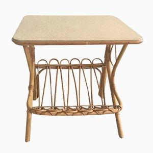 Vintage Rattan Nachttisch