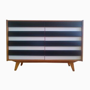 Czech Black and White Chest of Drawers, 1960s