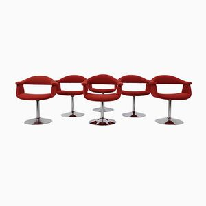 Mid-Century Forelli 8565 Chairs by Eero Aarnio for Asko Lahti Finland, Set of 6