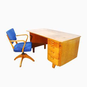 Vintage Scandinavian Writing Desk & Chair for Åvidaberg, 1950s