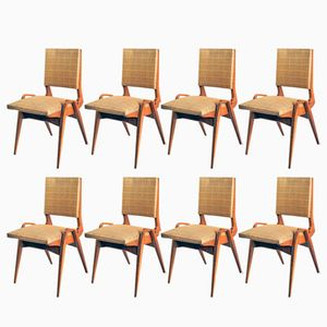 French Dining Chairs by Maurice Pré, 1950s, Set of 8