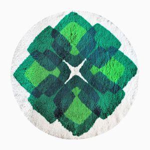 Grüner Vierpass Teppich, 1970er