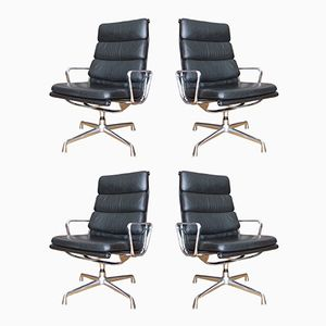 Mid-Century EA 215 Softpad Armchairs by Charles & Ray Eames for Herman Miller, Set of 4