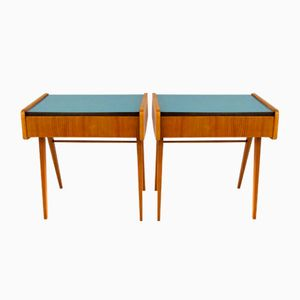 Mid-Century Blue Formica Nightstands by František Jirák, 1960s, Set of 2